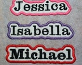 Personalized Embroidered Iron On Name Patch