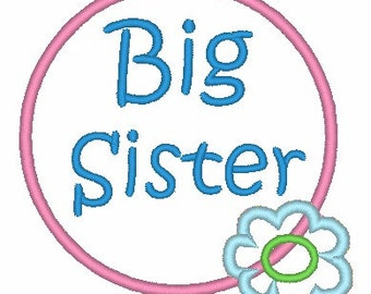 Big Sister Applique Design 001