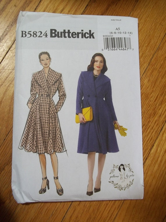 Butterick 5824 Coat Pattern By Gertie Gretchen Hirsch