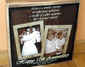 50th Wedding Anniversary PERSONALIZED Photo COLLAGE Blocks- Custom made to order