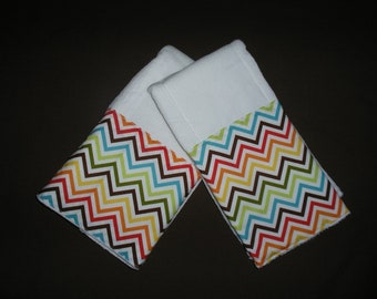 Boutique Burp Cloth sets......Chevron Bermuda Boutique Burp Cloth Set