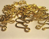 Gold Plated S Hook Clasps (60)