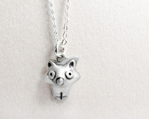 Very tiny fox necklace, silver fox jewelry, gift for daughter, wife gift, girlfriend gift, coworker gift