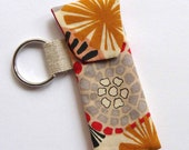 lip balm or usb stick holder keyring. autumn tones