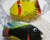 Destash Wood Porpoise and Fish Beads, various fish