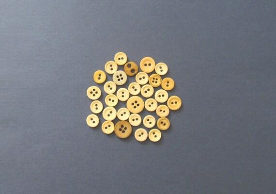 Antique Bone Buttons