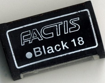 Package of 2 Black Erasers