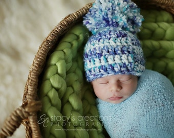 Hat for Baby, Hat for Boys, Crochet Baby Hat, Newborn Baby Hat, Baby Boy Hat, Infant Boy Hat, Boy Baby Beanie, Infant Beanie, Blue,