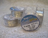 20 gauge Non Tarnish Silver Plated Beadsmith Copper Craft Wire 6 yards