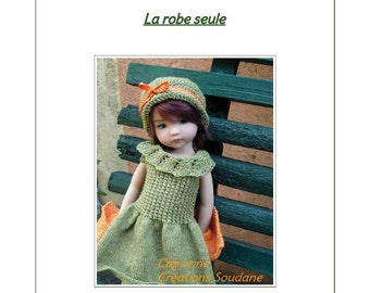 "57.  English and  French INSTANT DOWNLOAD PDF knitting Pattern Only dress 13"" dolls Little Darling, Narsha, Zihu"