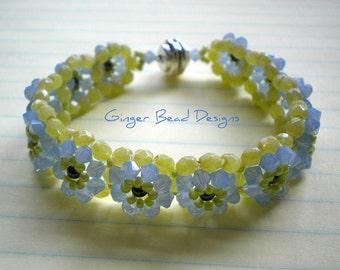 Crystal Clear Air Blue Opal Swarovski Bracelet