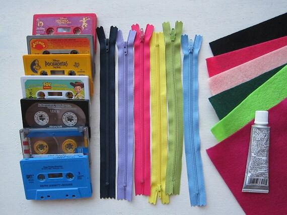 Complete DIY KIT - Makes 6 Cassette Wallets