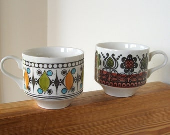 Pair of Vintage English Coffee Cups
