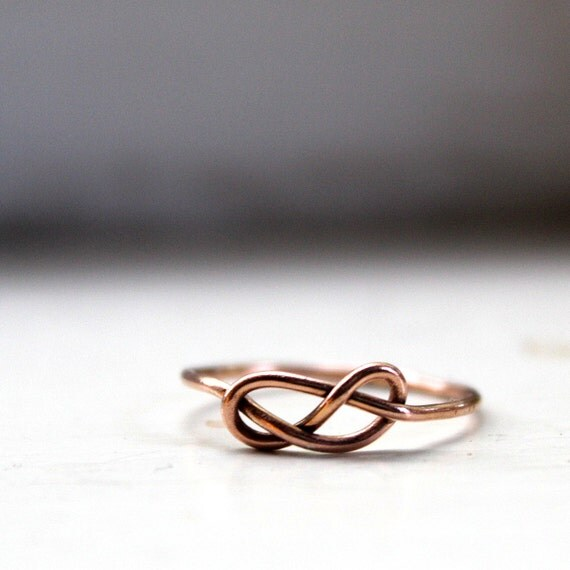 14k Solid Gold Infinity Ring Knot Ring