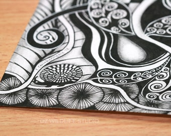 Zentangle Inspired Print - Unmatted