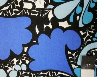 Mark Cesarik MC11 Morning Tides Scallop Leaves Royal Cotton Fabric 1 Yd