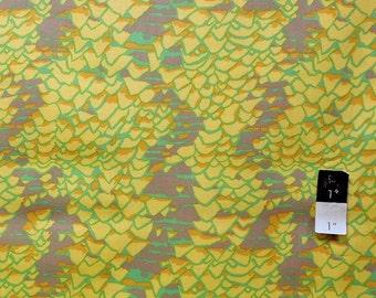 Brandon Mably BM14 Shell Scape Yellow Cotton Fabric 1 Yard