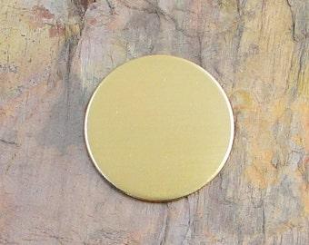 "5 Deburred 18 Gauge Brass 1 1/4"" 1.25 inch Stamping Blanks Discs"