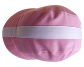 Pink Cycling Cap - Three Panel with Ribbon