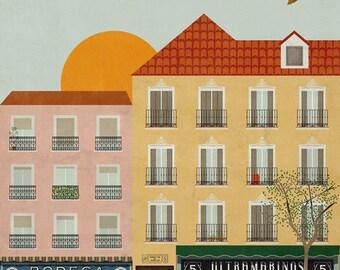 Madrid print