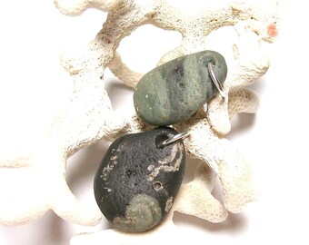 Beach Stones Focal Jewelry Beads - Vintage Sea Glass Leland Slag Beach Glass Nuggets Jewelry Findings LOVE BEADS