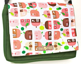 Green Fairy TREEHOUSE MESSENGER Book iPad Laptop Diaper BAG