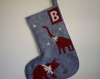Holiday Dinosaur Stocking