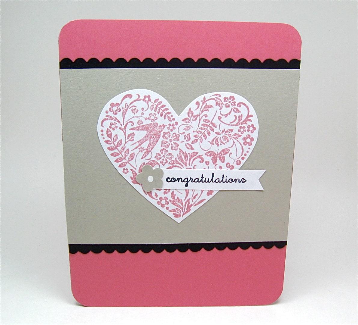 Wedding Card Bridal Shower Card Engagement Card