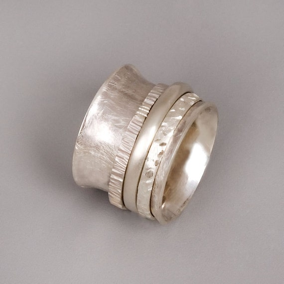 Chunky Silver Rings Etsy