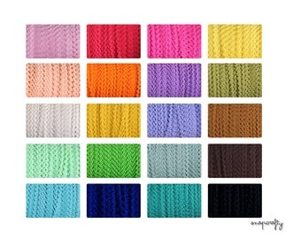 50 yards tiny ric rac trim for crafting and creating, 11/64 inch, choose from 20 colors