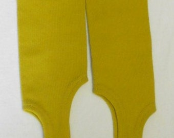 Vintage SPORTING SOCKS, GAITERS, citrine green, poly knit, retro cool, ankle boot socks