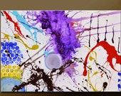 Abstract Canvas Art Painting 36x24 Original Modern Contemporary Paintings by Destiny Womack - dWo - Impulse SALE