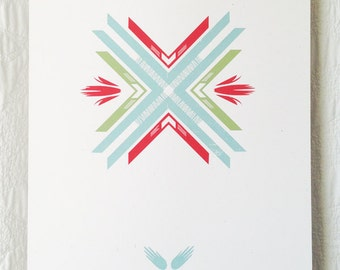 Folk Pattern 1 Screen Print