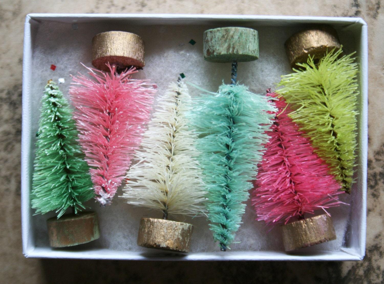 Candyland Pastel Bottle Brush Trees