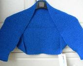 Ribbed shrug - bright blue