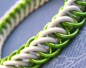 Electric Lime Green Stretchy Chainmaille Bracelet