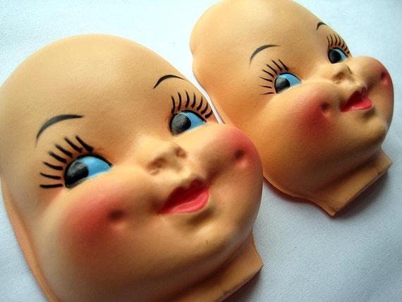 SALE Vintage Doll Parts - Baby Faces