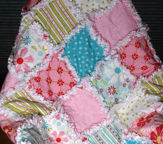 Free US Shipping Sweet Divinity Rag Quilt Ready to Ship