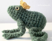 The Frog Prince with Golden Crown - Made to Order - by lostsentiments