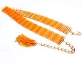 Orange Plastic Belt, Retro / Mod