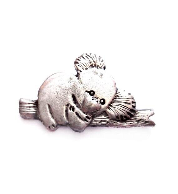 Signed MOORE Pewter Koala Bear Pendant