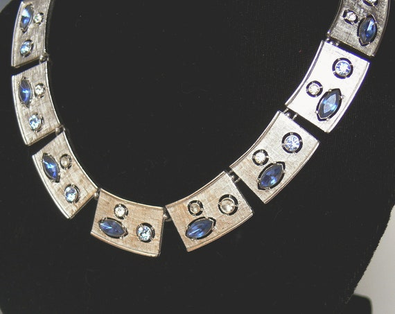 Vintage Rhinestone Necklace Sarah Coventry Rhapsody in Blue