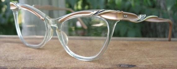 Vintage - 1950s Cat Eye Glasses - Lovely Design