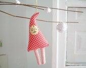 Christmas Ornament Red Polkadots Moustache Gnome - Mr. Cooper