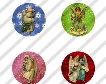 Digital Collage Sheet Altered Art  Bottle Cap Images Victorian Christmas 1 Inch (Sheet no. FS180) Instant Download