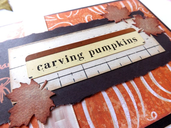 CLEARANCE // FREE SHIPPING' // Autumn Pumpkin Greeting Card