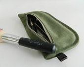 SALE SALE SALE  20% Sale  -  // D- Pouch in Smoke green // Wallet / clutch / cosmetic bag / iphone case / travel / Women / Pouch