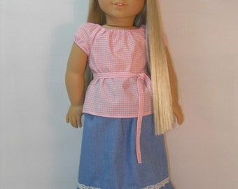 1974-1221 18 Inch Doll Clothes fits Julie and Ivy Peasant Blouse Skirt