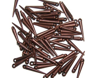 Mini Spike beads copper colored spikes 50 pcs