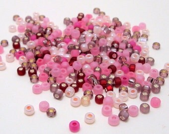 24 grams Size 8/0 Japanese Glass Seed Beads Cherry Mix